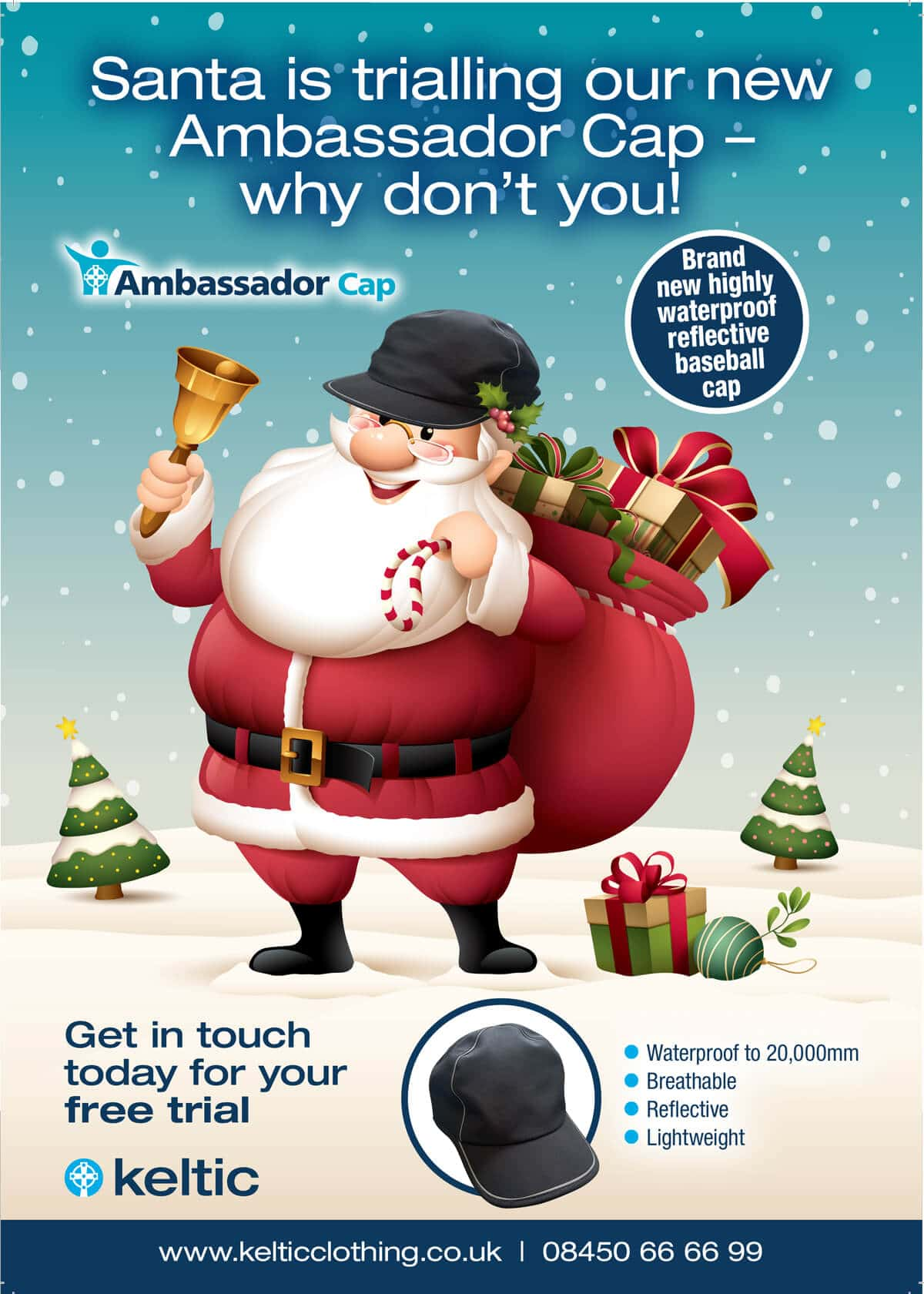 Santa is trialling our new Ambassador Cap - why don't you!