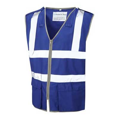 coloured petrol vest