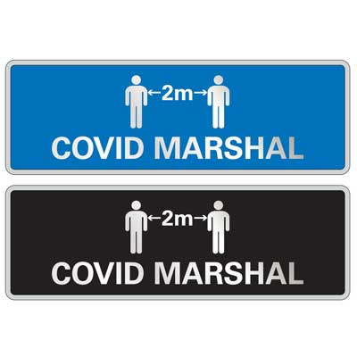 covid marshal badges